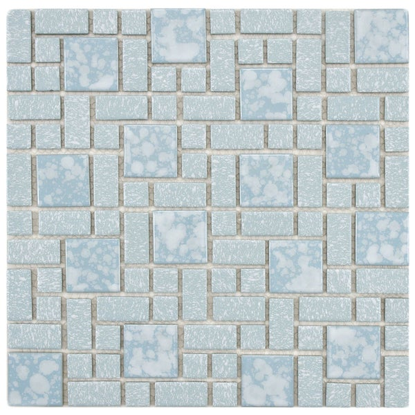 SomerTile Academy Blue Floor And Wall Tiles Set Of