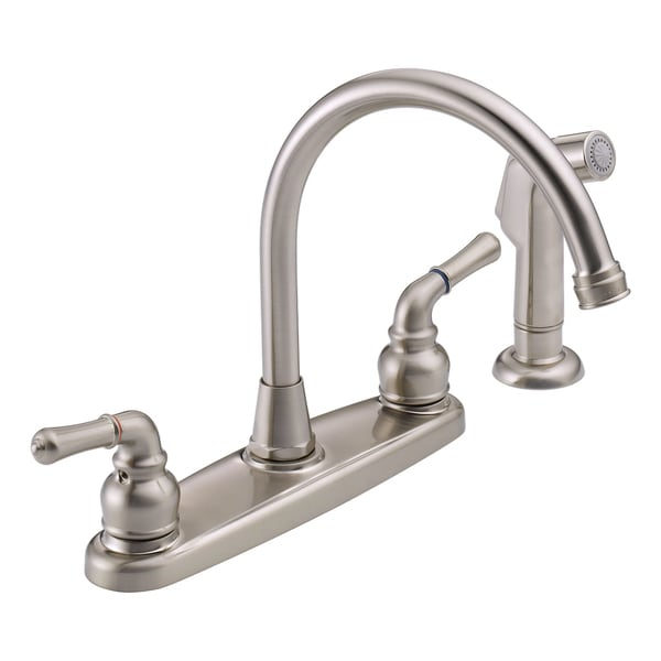 Peerless WAS01XNS Two-handle Satin Nickel Kitchen Faucet