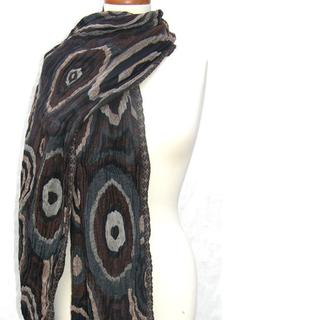Handwoven Merino Wool Driftwood Textured Ovals Shawl (India)
