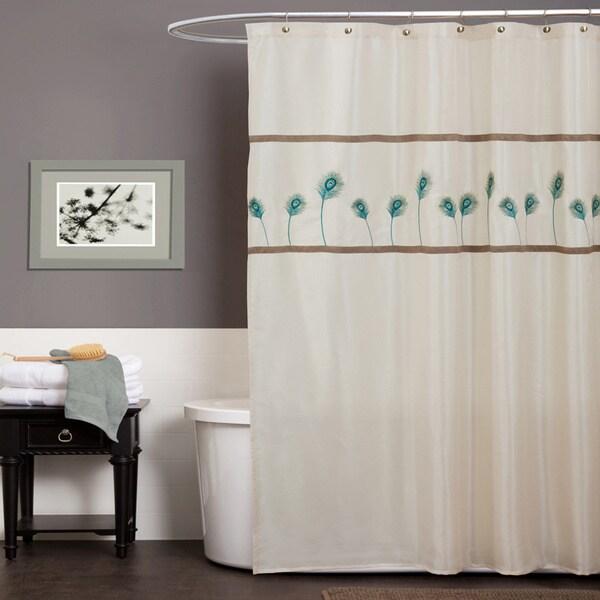 Lush Decor Aurora Blue Shower Curtain