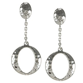 ELLE Jewelry Sterling Silver Hammered 'O' Earrings