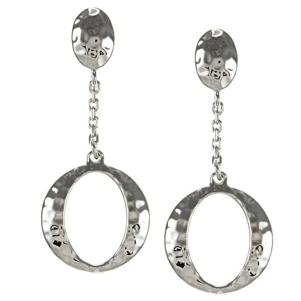 ELLE Jewelry Sterling Silver Hammered 'O' Earrings
