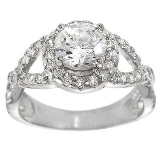 Tressa Sterling Silver Cubic Zirconia Engagement Ring
