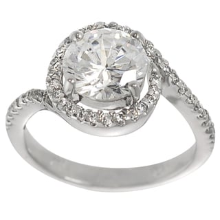Tressa Sterling Silver Round-cut Cubic Zirconia Engagement Ring