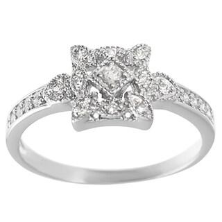 Tressa Sterling Silver Cubic Zirconia Vintage Ring