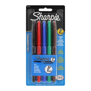 Sharpie Chisel Tip Calligraphic Markers (Pack of 5)