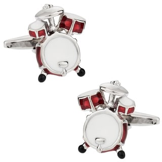 Cuff Daddy Silvertone Drum Kit Cuff Links
