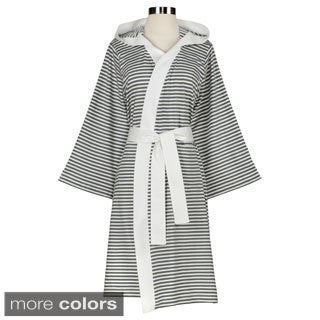 Women's Organic Cotton Stripe Bath Robe