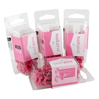 ACCO Cork Board Pink Bulletin Push Pins (Pack of 300)