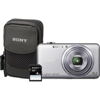 Sony Cyber-shot DSC-WX70 16.2MP Silver Digital Camera Kit