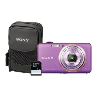 Sony Cyber-shot DSC-WX70 16.2MP Violet Digital Camera Kit