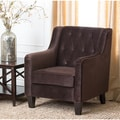 Abbyson Living Hamilton Dark Brown Fabric Armchair