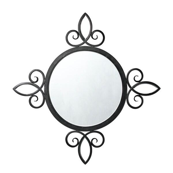 Cal Lighting Lonia Iron Round Mirror