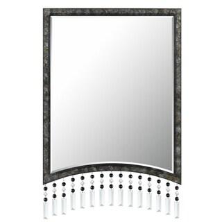 Cal Lighting Argenta Beaded Rectangular Metal Mirror