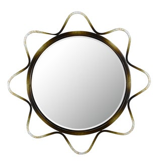 Cal Lighting Lorca Round Metal Mirror