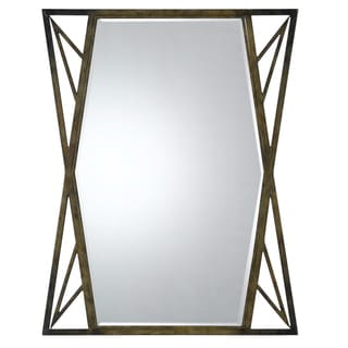 Cal Lighting Pavia Metal Beveled Glass Mirror