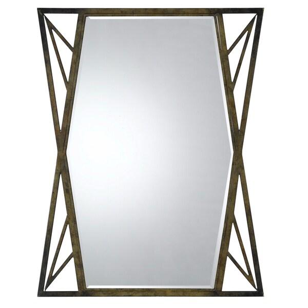 Cal Lighting Pavia Metal Beveled Glass Mirror