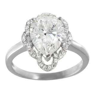 Tressa Collection Sterling Silver Cubic Zirconia Engagement-style Ring