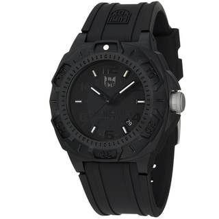 Luminox Men's 'Sentry' Black Dial Black Rubber Strap Quartz Watch