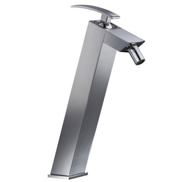 CAE 11.8-inch Tall Single-handle Chrome Vessel Sink Bathroom Faucet