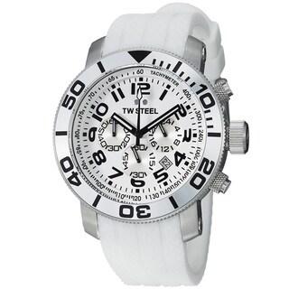 TW Steel Men's TW94 'Grandeur Dive' White Dial Chronograph Strap Watch
