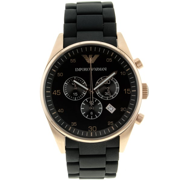 Armani Men's 'Sport' Silicone/ Steel Watch