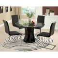 Five-piece Glass Dining Table Set