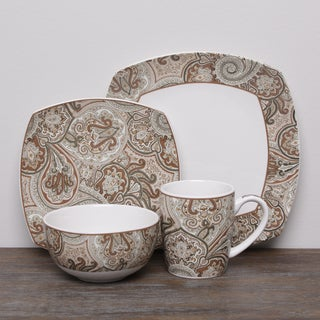 Waverly Paddcok Shawl Paisley 16-piece Dinnerware Set