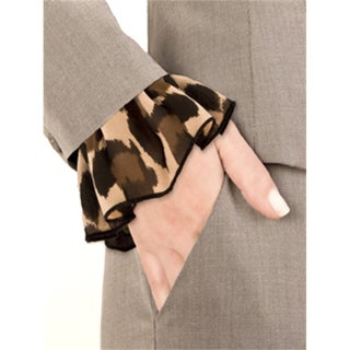 Leopard Chiffon Slip On Cuff