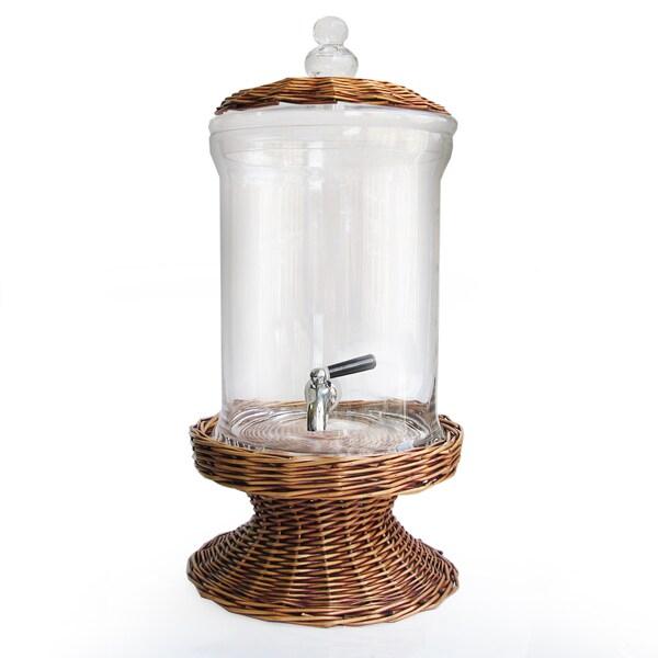 Fifth Avenue Crystal Glass Beverage Dispenser