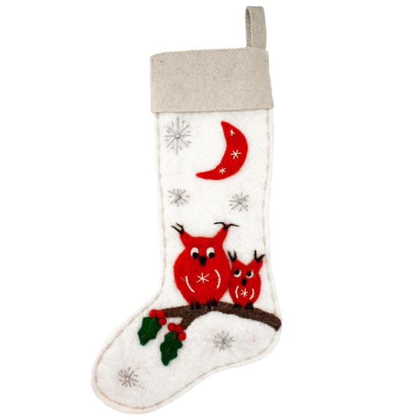 Woodland Owl Christmas Stocking (Nepal)
