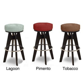 Stainless Steel Footrest Round Barstool