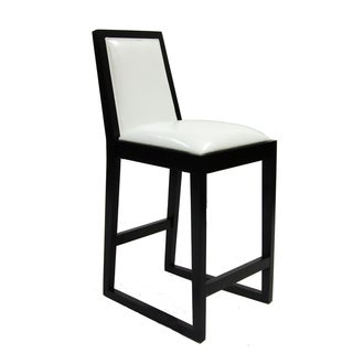 White/ Black Stationary Barstool