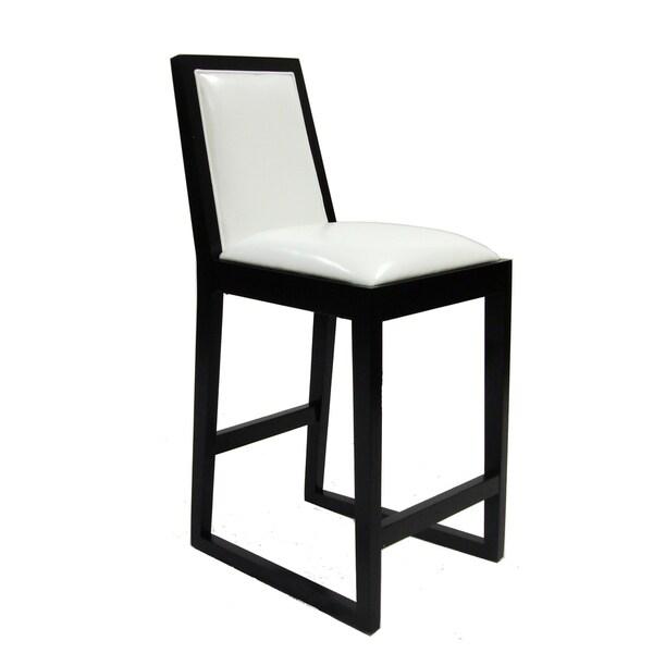 White/ Black Stationary Barstool