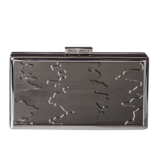 Jimmy Choo 'Cameo' Silver Metal Box Clutch