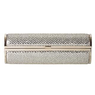 Jimmy Choo 'Cosma' Glitter Fabric Cylinder Clutch