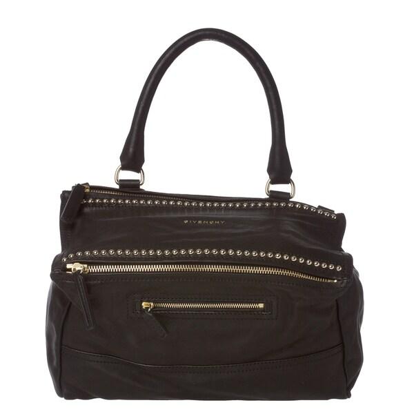 Givenchy 'Pandora' Black Leather Studded Shoulder Bag