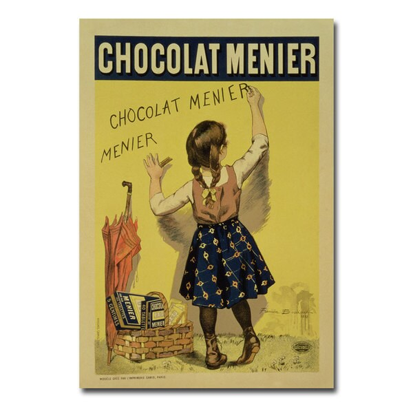 Firmin Bouisset 'Menier Chocolate 1893' Canvas Art
