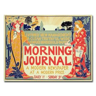 Henri Meunier 'Morning Mournal' Canvas Art