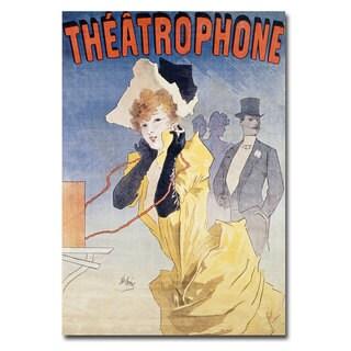 Jules Cheret 'Theatrophone' Canvas Art