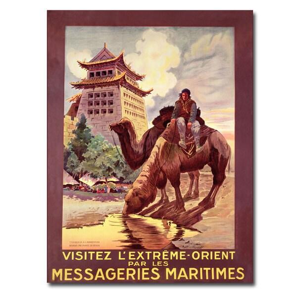 Ruedolf 'Messageries Maritimes 1920' Canvas Art