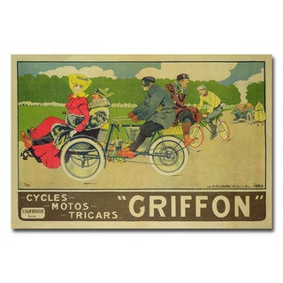 Walter Thor 'Griffon Cycles Motors & Tricars' Canvas Art
