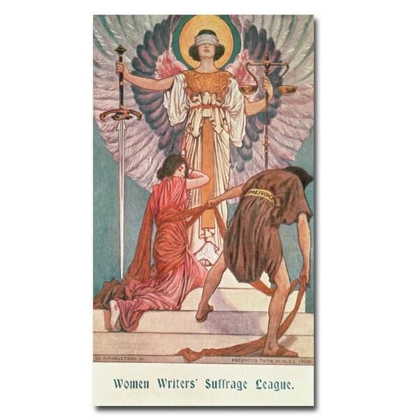'Women Writers' Suffrage Legue' Canvas Art