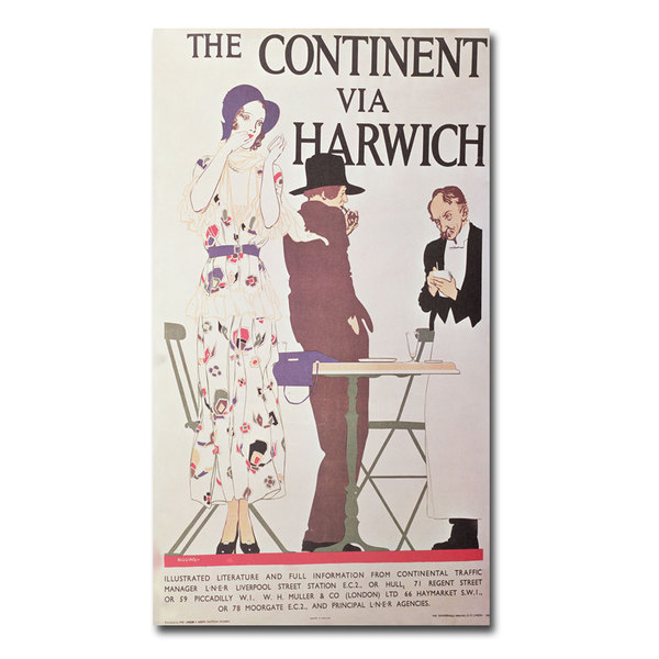 Reginald Higgins 'The Continent via Harwich' Canvas Art