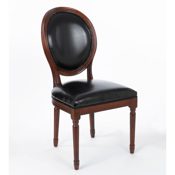 Gallery Black Faux Leather Curved Back Dining Chair