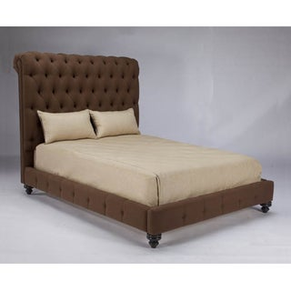 JAR Design 'Alphonse Tufted' Chocolate Queen Bed