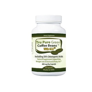 Pure Green Coffee Bean Extract 400mg with GCA Antioxidant (60 Capsules)