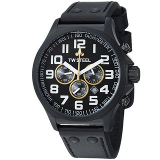 TW Steel Men's TW677R 'LutosF1Team' Black Dial Chronograph Quartz Watch