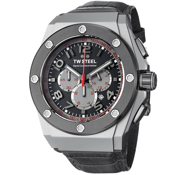TW Steel Men's 'Ceo Tech' Grey Dial Grey Strap Chronograph Watch