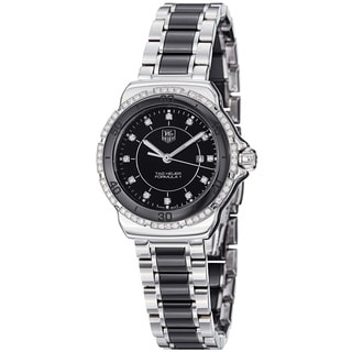 Tag Heuer Men's 'Formula 1' Black Dial Steel Ceramic Bracelet Watch